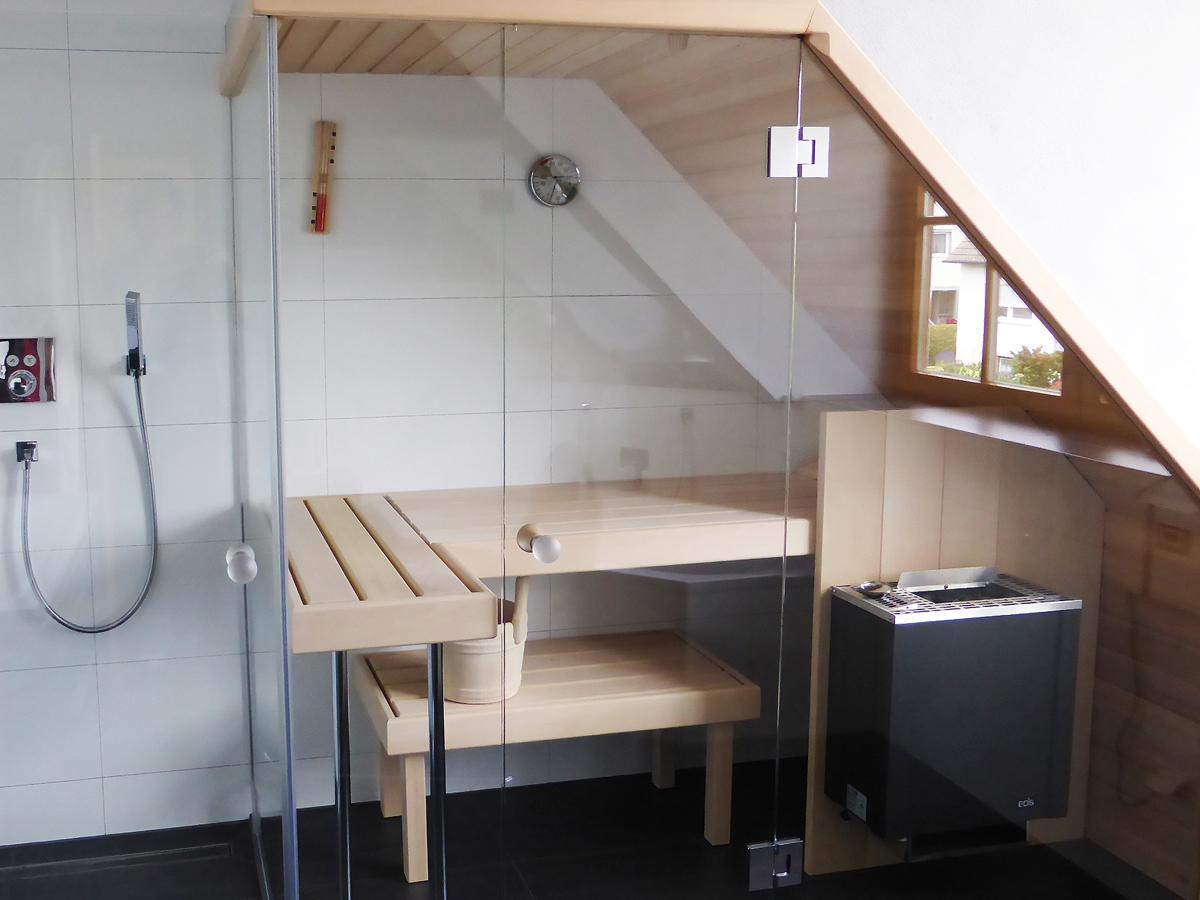 Sauna-Dachschräge